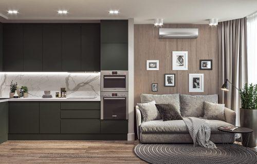 Дизайн інтер'єру кухні вітальні