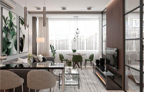 Кухня вітальня дизайн інтер'єру